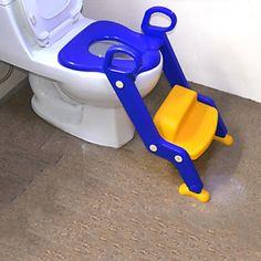 bambini WC vasino sedia formazione intensificare sede scala, tradizionale plastica blu – EUR € 67.16