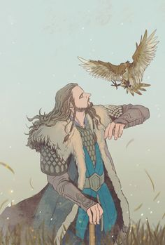 :) I love this!! Thorin from the hobbit, who ever drew this has talent! I love it!!