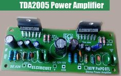 circuit of audio amplifer as well, using IC TDA 2005 as a base circuit amplifier. The circuit of Watt Audio Power Amplifier using can you see in the picture below Car Audio Amplifier, Subwoofer Speaker, Stereo Amplifier, Electronic Kits, Electronic Circuit, Speaker Plans, Hobby Electronics, Wordpress Website Design, Circuit Diagram