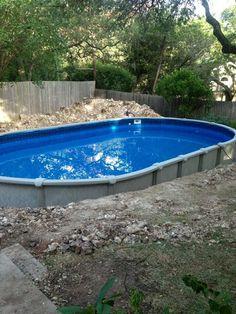 Metric Semi Inground Pool Above Ground Pool Decks In