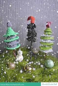 Crochet Christmas Trees Free Pattern