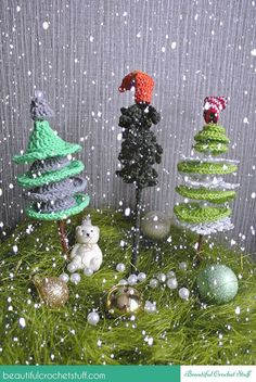 Crochet Christmas Trees Free Pattern