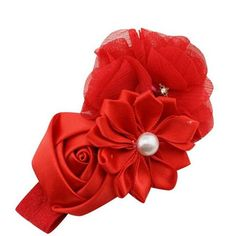 Newly Design Little Girls Pearl Flower Rhinestone Elastic Headbands Hair Accessories 160613 Drop Shipping Sunward