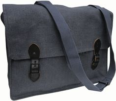 """""""These vintage linen bags are so handsome yet very useful. Measuring 15 ½"""" long x 11 ½"""" high x 4 ½"""" wide. The 1960's era Air Force bag conceals two full length pockets one measuring 9"""" width …"""