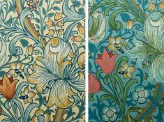 William Morris: golden lily #williammorris #artsandcrafts #dessin #wallpaper #tulip #flower #illustration