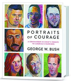 "After retiring from the White House, George W. Bush has been rediscovering himself through the art of painting. The former president will release a book of portraits of military members and veterans that he has come to know after leaving office, titled PORTRAITS OF COURAGE: A Commander in Chief's Tribute to America's Warriors. The New York Times said ""awkward images enlivened by...ham-handed brushwork,"" and compared them to paintings paintings one would find in a thrift shop."