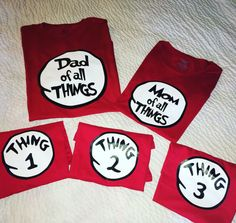 Dr Suess Family shirts Thing 1 Mom of all things so cute for birthdays universal studio Parks or just because