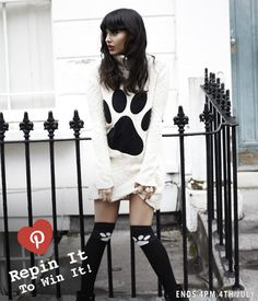 Repin for your chance to get your paws on this applique jumper dress from JAM by Jameela Jamil http://www.very.co.uk/jameela-jamil-paw-applique-jumper-dress/1119980110.prd x
