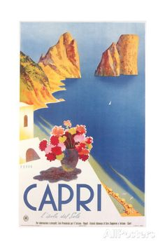 Travel Poster for Capri Affiches sur AllPosters.fr