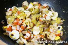 Salada morna de tentáculos de pota | ratatui dos pobres