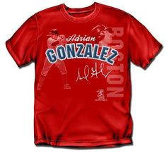 Boston Red Sox MLB Adrian Gonzalez #28 Players Stitch Mens Tee (2X Large)
