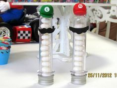 Lembrancinha Tubete Mario Bros e Luigi Super Mario Bros, Super Mario Birthday, Mario Birthday Party, Super Mario Party, Birthday Parties, Mario E Luigi, Biscuit, Geek Stuff, Birthday Party Ideas