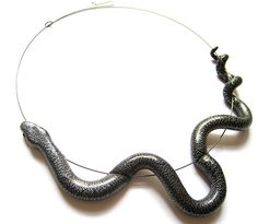 An interesting idea for a polymer clay snake necklace