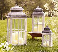i love old lanterns for decoration