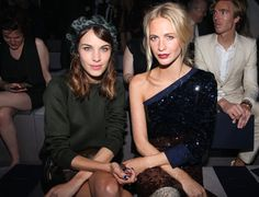 Alexa Chung and Poppy Delevingne - Louis Vuitton