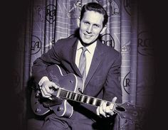 Chet Atkins with Gretsch G6120-CGP Stereo prototype