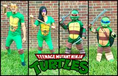 Teenage Mutant Ninja Turtles Family Themed Costumes. TMNT Halloween Costume. Superhero Party Costume, Adult Superhero Party, Group Halloween Costumes For Adults, Family Costumes, Couple Halloween Costumes, Woman Costumes, Pirate Costumes, Princess Costumes, Group Costumes
