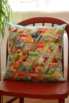 Fun pillow - I think I'd use a better contrast of colors to give it a more 3D look.  Other than that it is great!