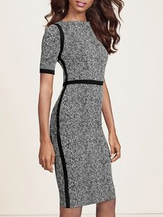 The Limited Scandal Collection Tweed Print Dress