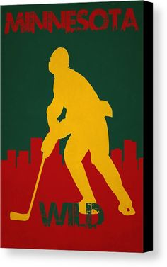 Minnesota Wild Canvas Print by Joe Hamilton.  All canvas prints are professionally printed, assembled, and shipped within 3 - 4 business days and delivered ready-to-hang on your wall. Choose from multiple print sizes, border colors, and canvas materials.