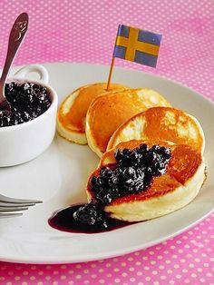 Swedish Pancakes, Pancakes And Waffles, Steak Salat, Chili Pasta, Griddle Cakes, Crepe Cake, Mille Crepe, Tasty, Yummy Food