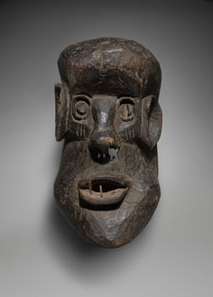 Mask Representing an Antisocial Character (Gongoli) African Countries, Sierra Leone, Headdress, Art Gallery, Objects, Skull, Artist, Liberia, Character