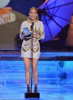 Jennifer Lopez Lights Up the Stage at the Premios Juventud: Jennifer Lopez performed and accepted an award at the Premios Juventud event.