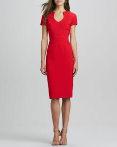 Gypsy Cap Sleeve Red Dress @ Neiman Marcus