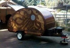 Cute teardrop camper.