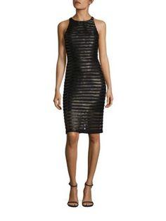Parker - Braelyn Leather-Trim Lace Dress