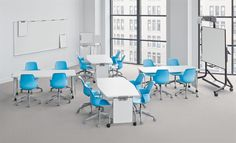 Verb tables from Steelcase - flexible classroom furniture