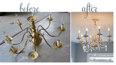 cool chandelier transformation.