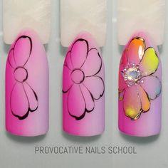 Summer Nail Designs - My Cool Nail Designs Nails Only, Get Nails, Nail Art Modele, Nail Art Fleur, Art Simple, Flower Nail Art, Cool Nail Designs, Nail Tutorials, Easy Nail Art
