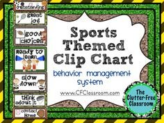 BEHAVIOR CLIP CHART This is a wonderful way to manage student behavior proactively and positively. The file contains a link to a detailed blog post explaining how I use it in my classroom.