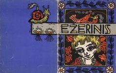 "Albina MAKŪNAITĖ – The cover for Aldona Liobytė's story ""Ežerinis"", 1962."