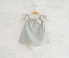 Little girl outfit, Elegant Ruffle Sleeves Dress with lace for baby girls, Gift Set for Newborn, Baptism outfit