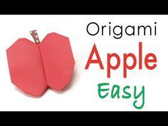 Easy☺︎ Origami Paper Apple Fruit - Origami Kawaii - YouTube