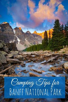 Summer season is camping Banff season. How to pitch a tent and plan your camping adventure in beautiful Banff National Park, Alberta, Canada. | summer vacation | camping