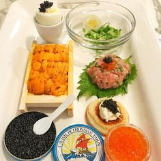Fancy Tuesday night with @petrossiannyc #petrossian #caviar Follow on Instagram: JenCooksKorean JenCooksKorean.com