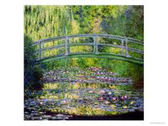 The Waterlily Pond with the Japanese Bridge, by Monet