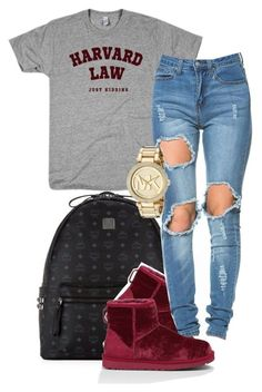 """Untitled #212"" by simoneswagg ❤ liked on Polyvore featuring MCM, UGG Australia and Michael Kors"