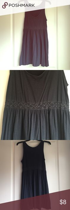 Navy blue mini dress This is a cotton navy blue dress with a see thru lace middle. Perfect for summer H&M Dresses Mini