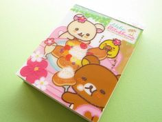 Kawaii Cute Mini Memo Pad Aloha Rilakkuma San-x (MM08001-1)