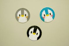 Cutest little penguins made in Hama perler beads // A whole Lotte love