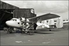 Twin Pioneer RMAF FM1070 at Prestwick, Glasgow, Scotland, UK - being prepared for the RMAF  9 Jun 62