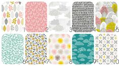 ORGANIC BABY BEDDING by Cloud 9 Organics - Fitted Crib Sheet, Packn'Play, Stokke Sheets, Mini Crib, Changing Cover, Boppy Pillow Cover