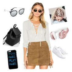 """Europa tour#2"" by elahuseyn ❤ liked on Polyvore featuring Chaser, Prada, adidas Originals, MANGO and Beats by Dr. Dre"