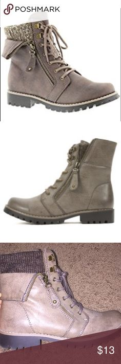 Boots Super cute boots! Dark greenish-brown color. Worn once. Size 7 1/2. White Mountain Shoes Ankle Boots & Booties