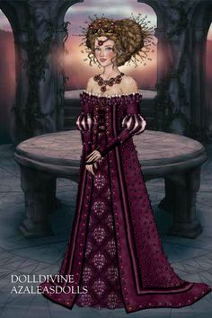 Posh Rapunzel ~ by Inanna ~ created using the LotR Hobbit doll maker | DollDivine.com