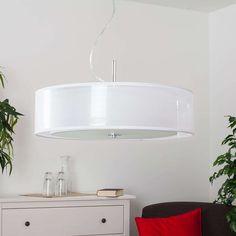 Moderne ronde hanglamp wit incl. 3x E27 - Pikka | Lampenlicht Luz Led, Muuto, Suspension Metal, Led Ceiling Lamp, White Lamp Shade, Night Lamps, Led Lampe, Light Fittings, Modern Design